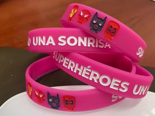 Pulsera Superhéroes Rosa