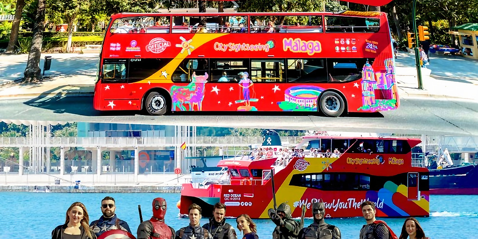 Finde de Superhéroes Bus + Barco