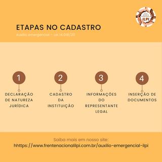 ETAPAS NO CADASTRO