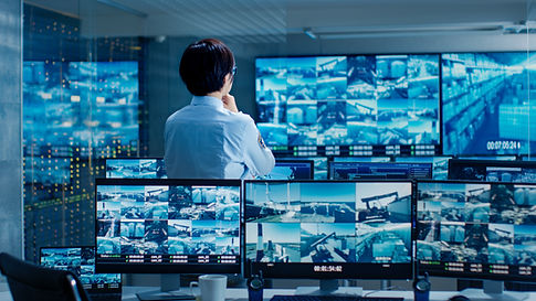 In the Security Control Room Officer Mon