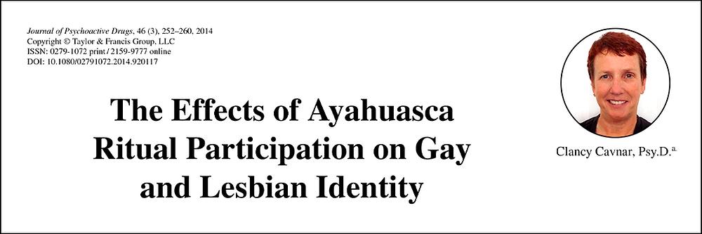 """A psicóloga norte-americana Clancy Cavnar, e seu artigo """"Os efeitos da participação em rituais com ayahuasca na identidade gay e lésbica""""."""