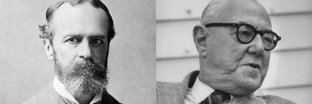 Os filósofos William James e Walter Stace.