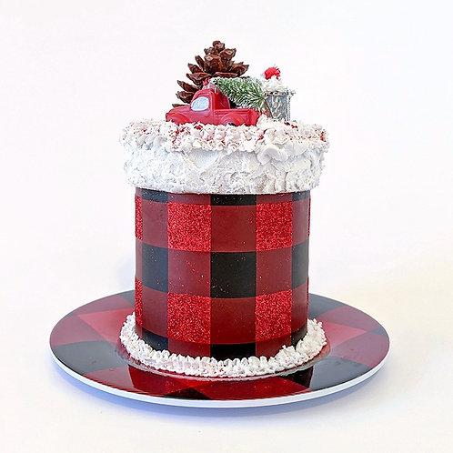 Premium Buffalo Pattern Mini Cake