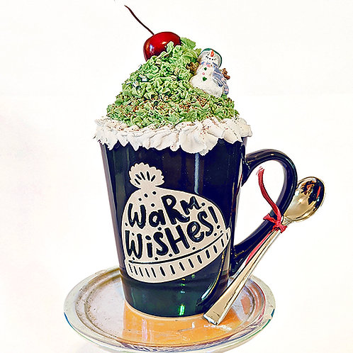Warm Wishes Mug with Topper