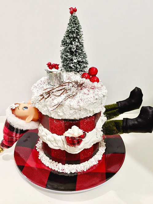 This Elf in the Cake is SOLD! Can be custom made for you. Let us know.