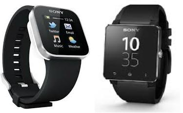 Evolution of Smartwatch - Sony Smartwatch 1 (Year: 2012) & 2 (Year: 2013)