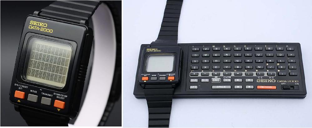 Evolution of smartwatch - Seico Data 2000 (Year: 1983/84)