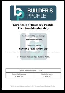 Builders Profile Cert 19 03 2021