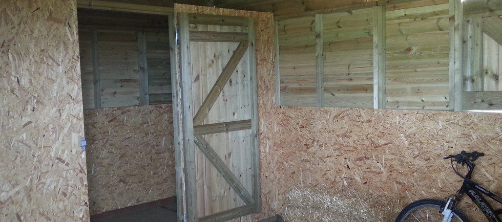 interior view of hay storage & tack room