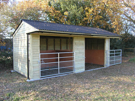 Doube Mobile Field Shelter with Half Mesh Gates