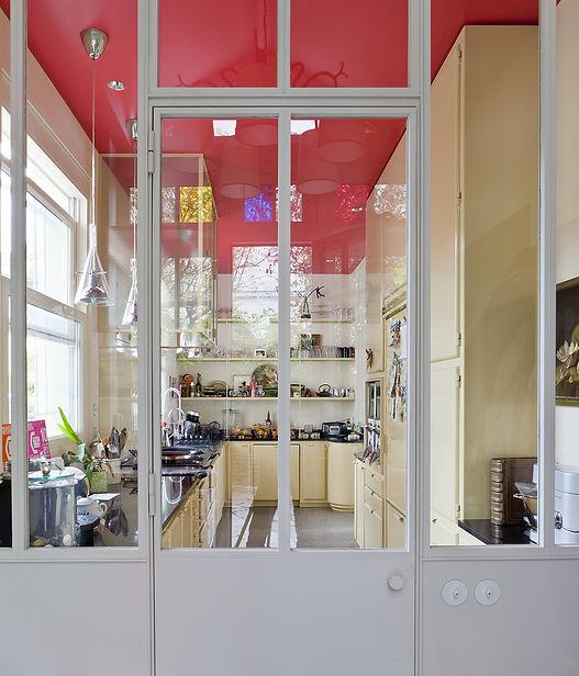 Cuisine acier fenêtre atelier