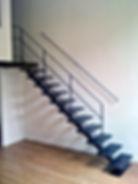 escalier acier industriel type atelier