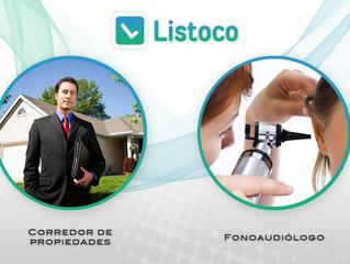 ¡Fonoaudiólogo y Corredor de Propiedades! Las nuevas categorías de Listoco App