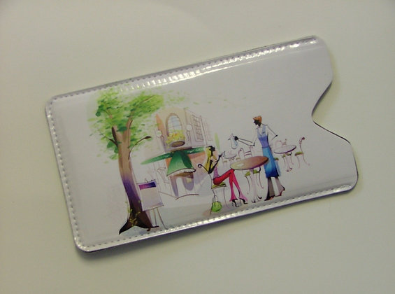 Phone Pouch Lady with Cafe Waiter E