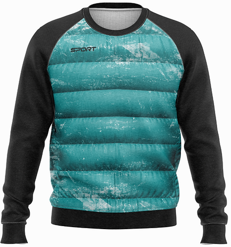 Sweat Mix Doudoune Molleton - Homme
