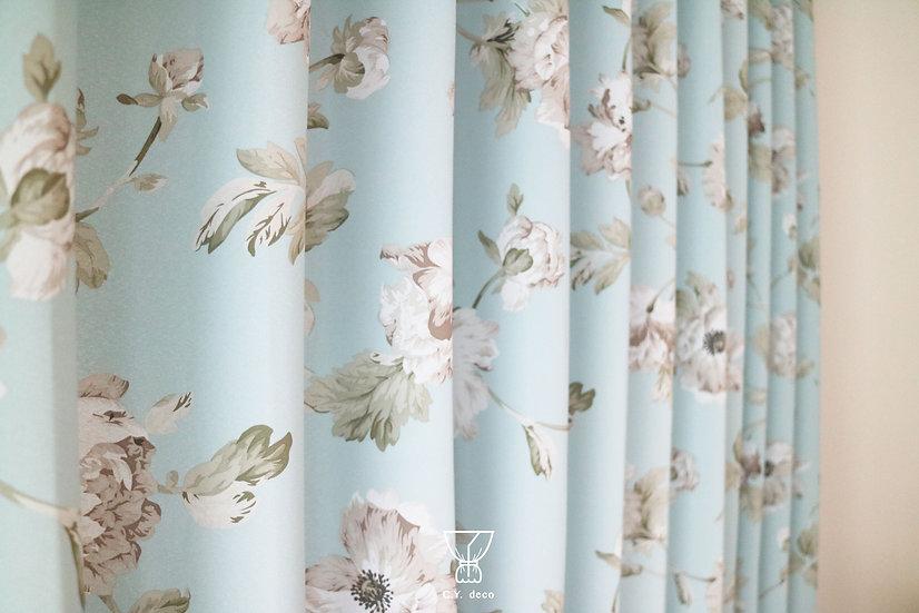 花卉印花遮光窗簾