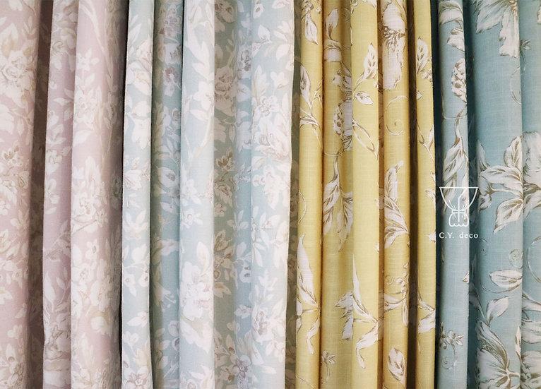 鄉村風印花窗簾