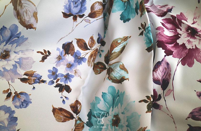 法式花卉遮光窗簾