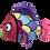Jouet couineur poisson multicolore  Kong reefz pour chien