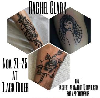 Rachel Clark guest spot Nov. 21-25