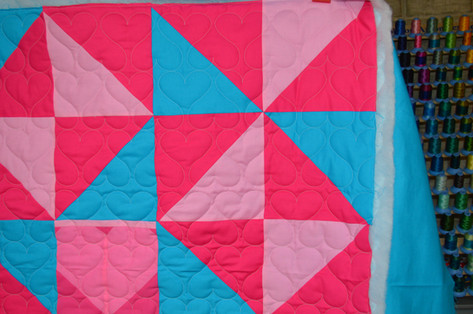 Quilted hearts pattern