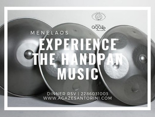 Experience the Handpan Music | Agaze | Santorini