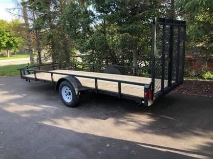 5x16' inline atv snowmobile trailer