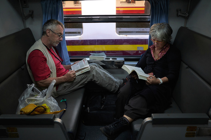 Reading in the train