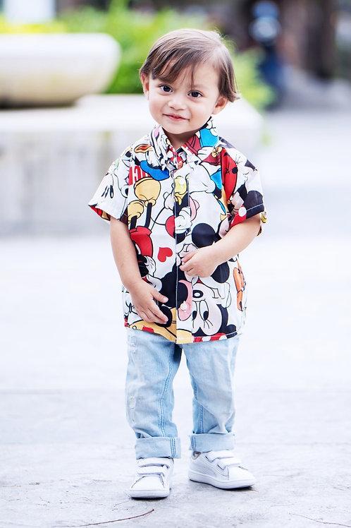 Camisa Bebe Modelo Mickey