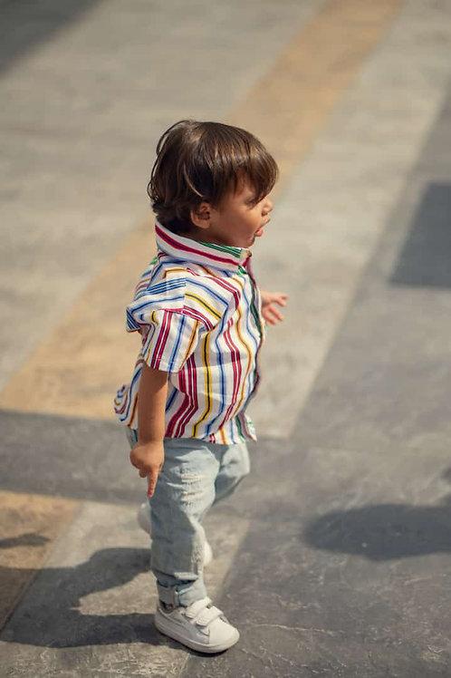 Camisa Bebe Modelo Colombia Lines