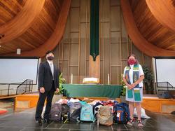 Reverend Denyse Barnes and Pastor Kim