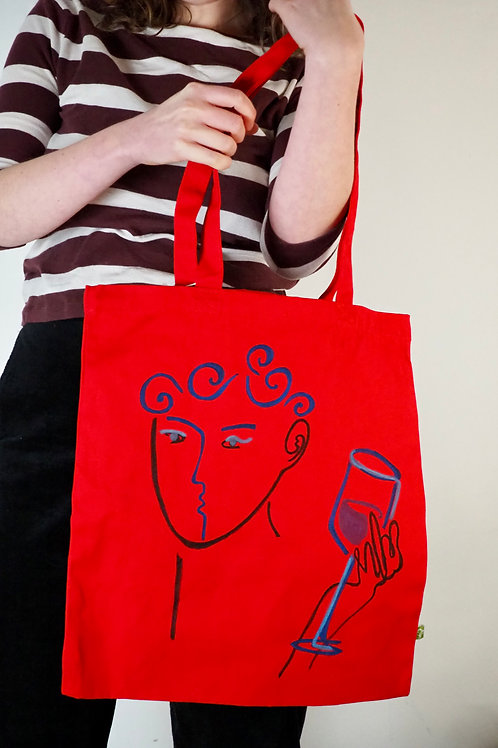 Organic Scarlet Tote Bag