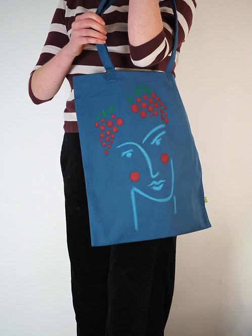 Organic Teal Tote Bag