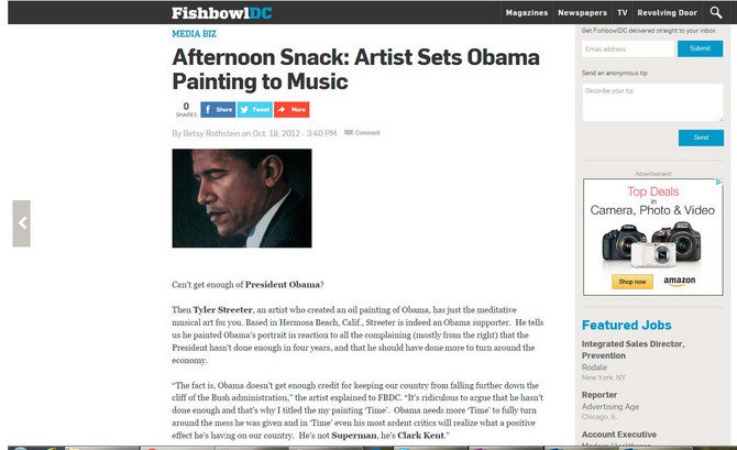 Obama timelapse movie featured on Fishbowl DC