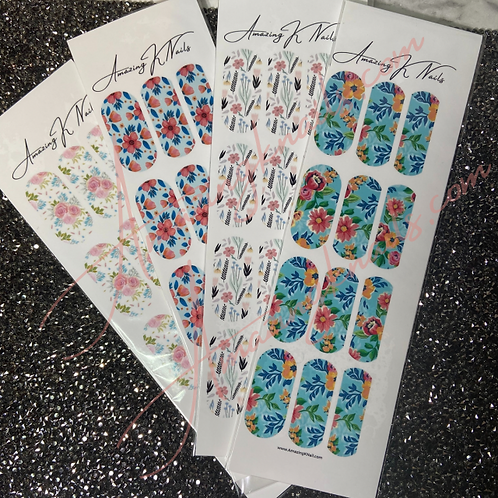 FLORAL WATER DECALS