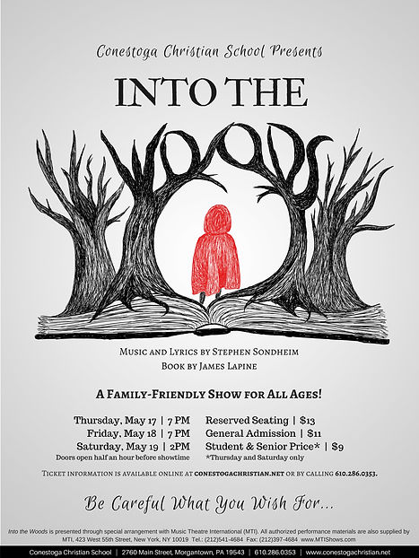 Into the Woods @ CCS, May 17-19