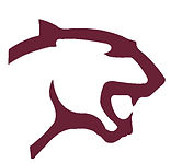 Cougar Head Maroon on White Facing Right