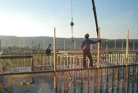 Working on the building in 2005