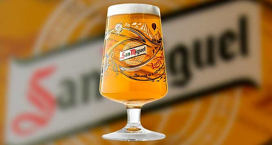 Glass of San Miguel beer