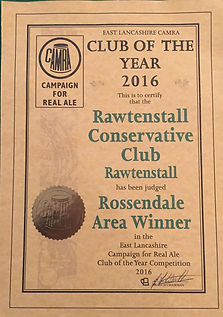 CAMRA award for Real Ale