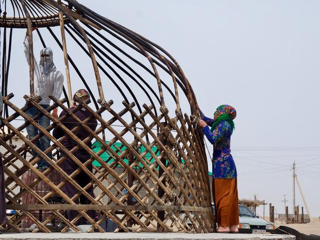 Constructing a Yurt