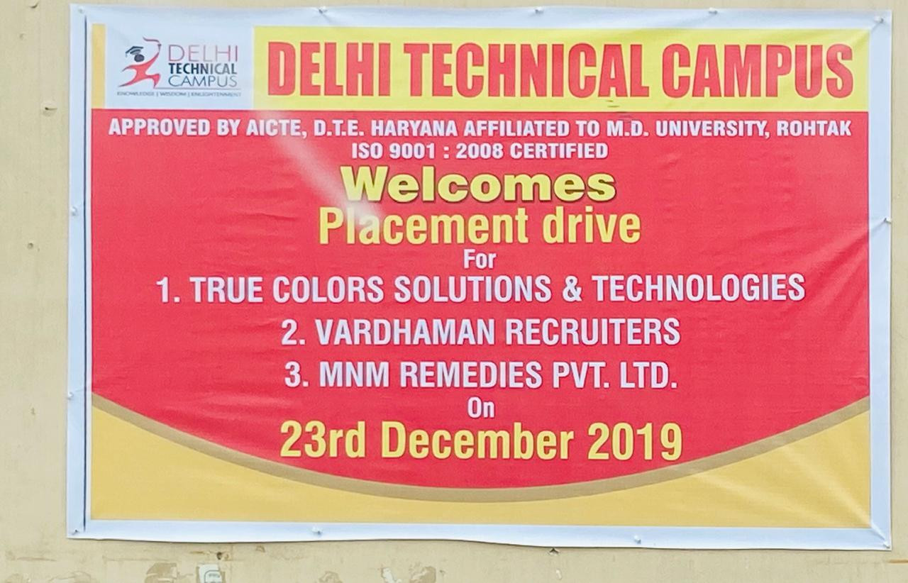 Delhi technical campus virtual drive