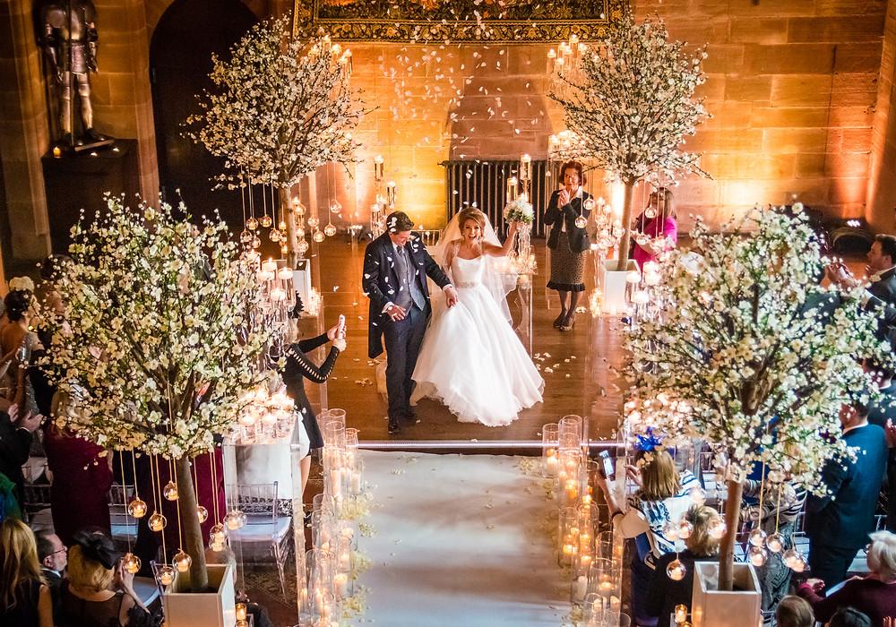 wedding venue peckforton castle bride