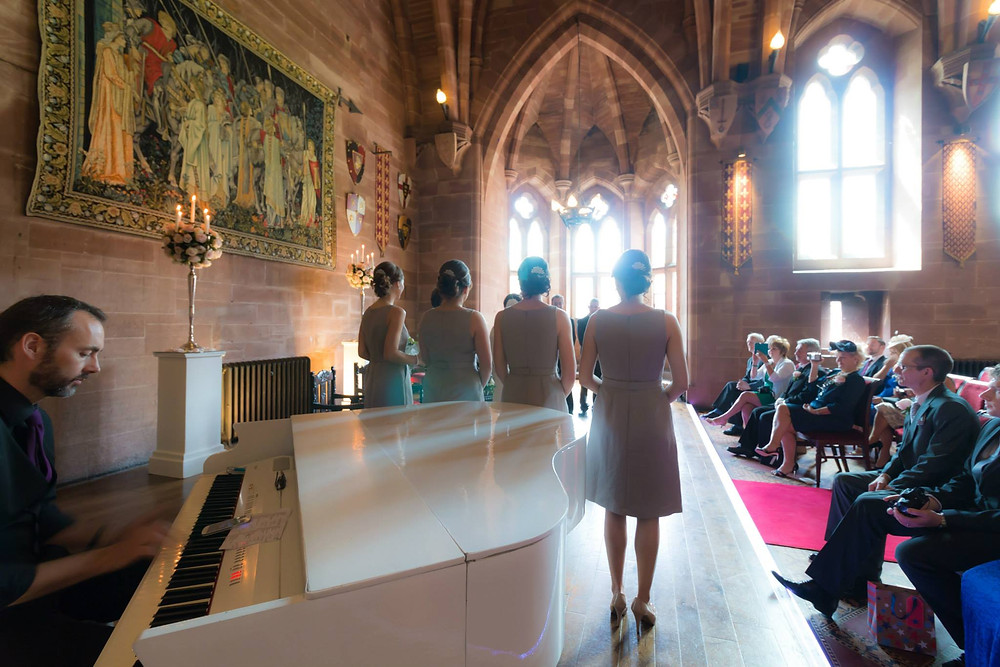 Wedding Ceremony at Peckforton Castle