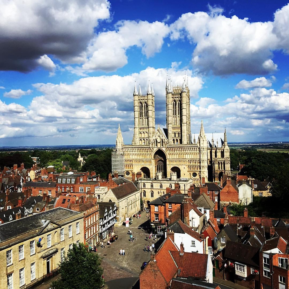 Lincoln Cathedral from Lincoln Castle by Rachael Coombs