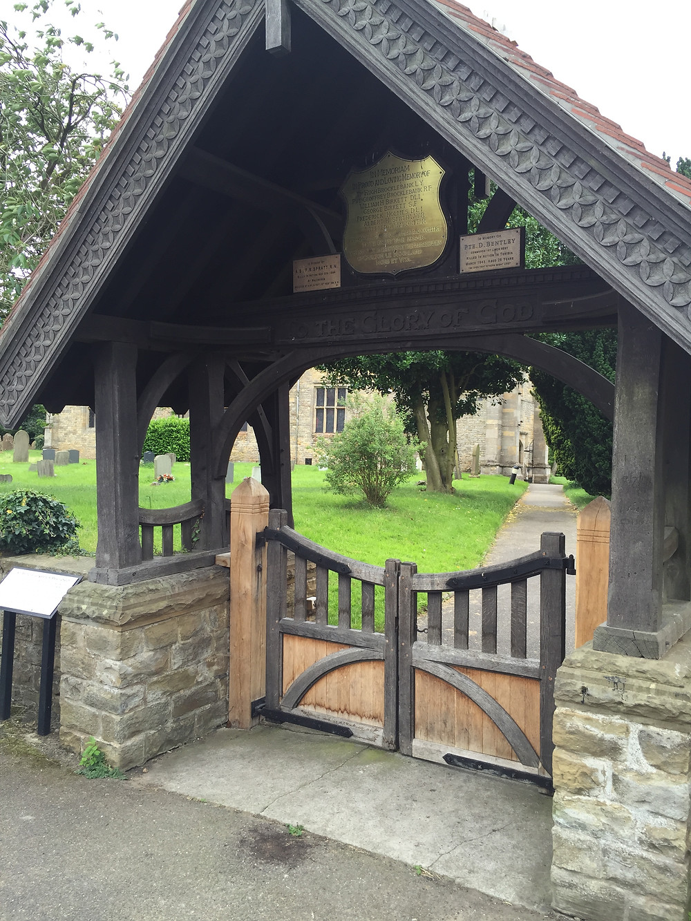 The Lychgate in front of St Mary's Church.