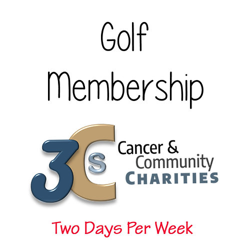 Golf Annual Membership - 2 days per week
