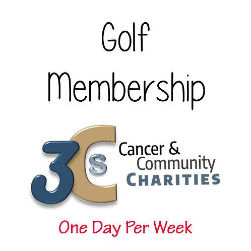 Golf Annual Membership - 1 day per week