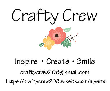 Crafty Crew Logo with email and website.
