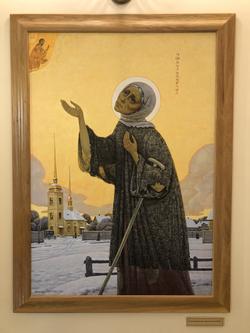 Картинное изображение святой покровительницы нашего города